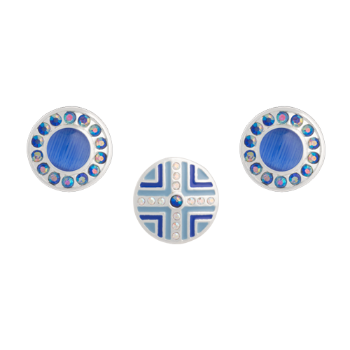 Blue Crosslet Dot Set