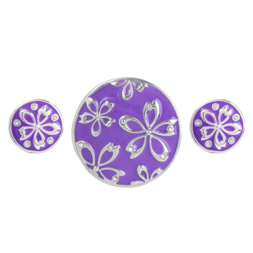 Purple Clematis Statement Set