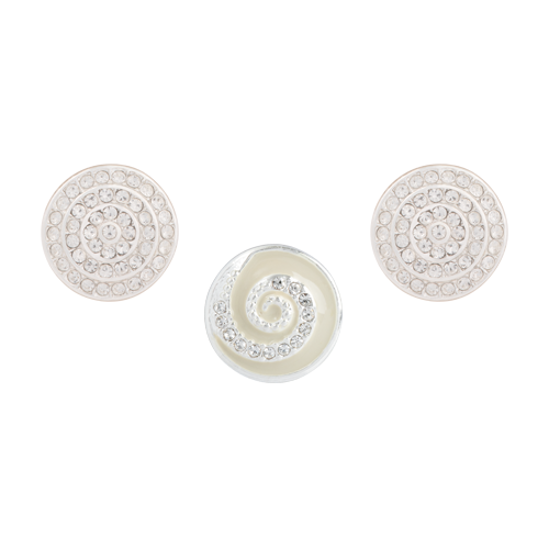 White Whirl Dot Set